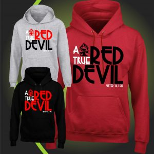 A true RED DEVIL hoody