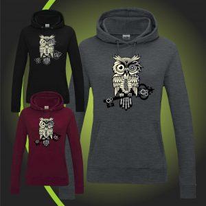 steampunk owl hoody 2