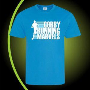 CORBY RUNNING MARVELS tshirt